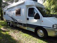 Hobby Motorhome,Fiat diesel motorhome,LHD Motorhome, A class Motorhome,Tag Axle Motorhome camper van