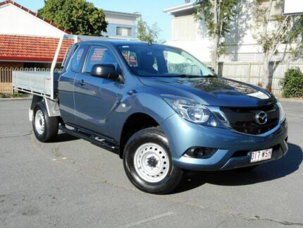 2016 Mazda BT-50 UR0YG1 XT Freestyle 4x2 Hi-Rider Blue 6 Speed Sports Automatic Cab Chassis Chermside Brisbane North East Preview