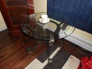 2 Glass Tables from Wicker Emporium (coffee table/end table)