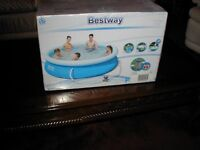 "Bestway Fast set swimming pool, Brand new in sealed box. 10' x 30"" with filter."