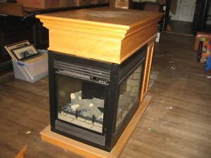 3 sided glass electric fireplace
