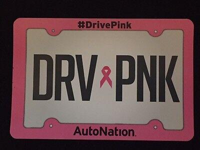 Autonation  Drv Pnk  Soft Magnet License Plate Susan Komen Cure Drive Pink 6 X4