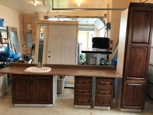 Cabinets, countertop, sink for sale