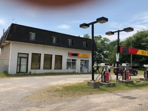 Gas Station and Shops Property 2 bedrooms separate 2 apartments