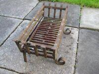 Old Ornate Iron Log/Fire Basket
