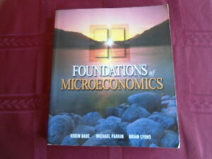 FOUNDATIONS OF MICROECONOMICS BOOK AND STUDY GUIDE