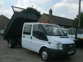 FORD TRANSIT 100 T350L CREW CAB TIPPER 2011 (11) IMMACULATE ONLY 89,000 MILES