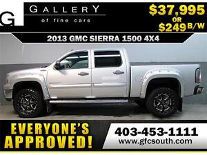 2013 GMC SIERRA SLT LIFTED *EVERYONE APPROVED* $0 DOWN $249/BW!