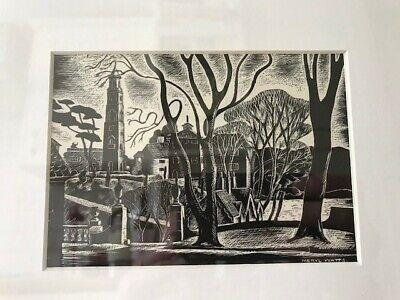 Meryl Watts, Print of Portmeirion - 'Salutation Corner', Snowdonia, Framed