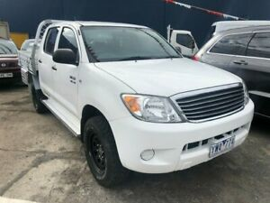 2007 Toyota Hilux GGN25R 07 Upgrade SR (4x4) White 5 Speed Automatic Dual Cab Pick-up Hoppers Crossing Wyndham Area Preview
