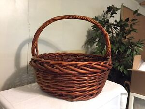 Oversized Accent Basket - Almost 2 Feet Wide - Good Condidtion