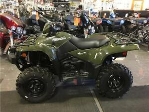 2016 Suzuki King Quad 750 with EPS, 2 left, $9999 with winch