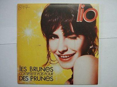Pour Des Prunes (LIO 45 TOURS FRANCE LES BRUNES COMPTENT PAS POUR DES PRUNES+)