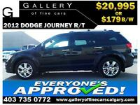 2012 Dodge Journey R/T AWD $179 bi-weekly APPLY NOW DRIVE NOW