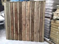 🌟 High Quality Under & Over Pressure Treated Fence Panels