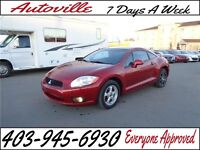 2009 Mitsubishi Eclipse GT-P MANUAL LEATHER  EVERYONE APPROVED