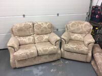 G Plan 2 seater settee and armchair. £65 for both.
