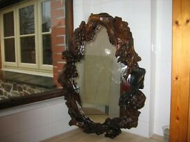 Unique Wood Decorative Mirror