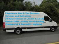 Man & Van Removal Service £20 Per Loading & unloading include with driver help in London & all UK