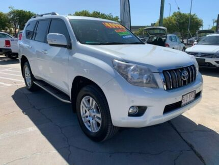 2013 Toyota Landcruiser Prado GRJ150R VX White 5 Speed Sports Automatic Wagon Maryborough Fraser Coast Preview
