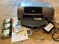 HP Photosmart 7150 colour inkjet printer with 3 b/w ink cartridges