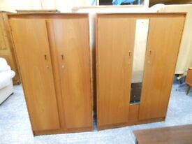 solid wooden bedroom suite. double wardrobe, triple wardrobe,and dressing table . can deliver