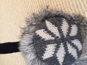 Nathaniel Cole Wool and Fur Earmuffs - one size