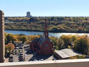 16th Floor Downtown River-View Pet Friendly 1 BR for Sept. 15th!