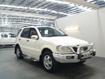 2002 Mercedes-Benz ML W163 270 CDI (4x4) White 5 Speed Auto Tipshift Wagon