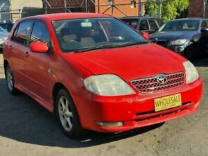 2002 Toyota Corolla ZZE122R Levin Seca Red 4 Speed Automatic Hatchback Granville Parramatta Area Preview