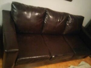 Brown Bonded Leather couche