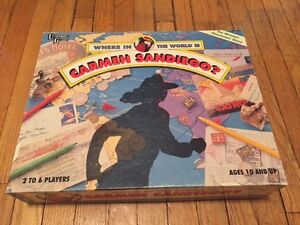 Where In The World Is Carmen Sandiego? Vintage Board Game