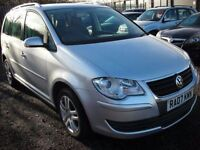VOLKSWAGEN TOURAN 1.9 SE TDI 7 SEATER 103 BHP Economical and practic (silver) 2007