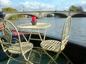 KEW BRIDGE: Beautiful 2 bedroom narrow boat for rent