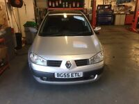 Renault Megane 1.4 petrol 2005 year sold with 12 months mot , new clutch and tyres for Mot