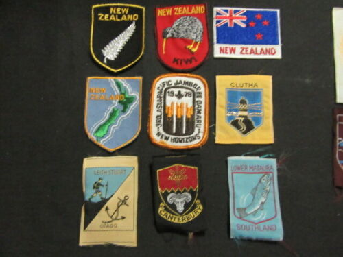 New Zealand Lot of 13 Boy Scout Patches & Stickon       cjprw