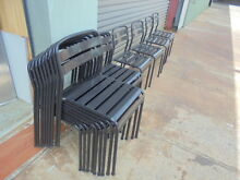 CAFE CHAIRS GREY METAL EX SHOP DISPLAY FURNITURE $40ea Brendale Pine Rivers Area Preview