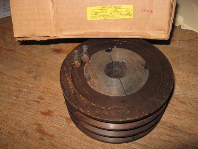 "Dodge 3 Groove Sheave 5.95"" Diameter A5.2 B5.6 Taper Lock w/1-1/4"" Bushing"