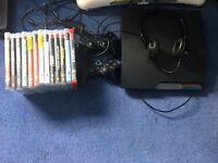Playstation 3 Slimline 13 games 2 pads and headset
