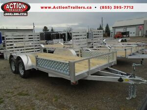 16' ALUMINUM UTILITY TRAILER - ATV RAMPS - BOTTOM LINE PRICING! London Ontario image 1