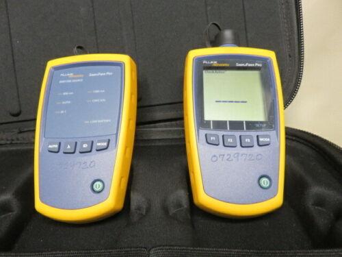 Fluke simplifiber pro optical power meter test set with signal source