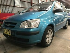 2003 Hyundai Getz TB GL Blue 5 Speed Manual Hatchback Sandgate Newcastle Area Preview