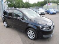 VW Touran SE TDI BLUEMOTION TECHNOLOGY 5d 103 BHP 7 seater, (black) 2011