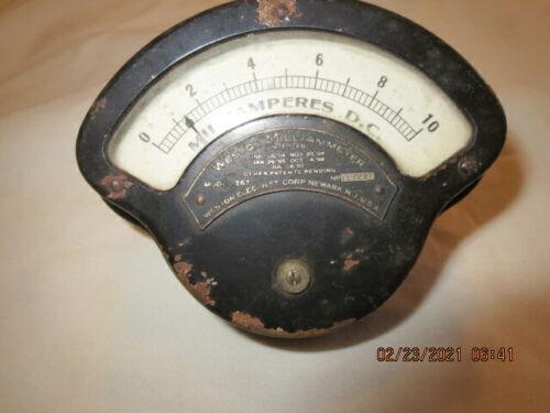 Vintage Weston Direct Current Milliammeter Model 267 Electrical Instrument