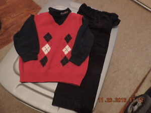 Boy's Size 3T OshKosh Cords, Vest & Turtle Neck London Ontario image 1