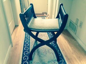 Antique Folding Chair - Re-upholstered