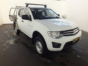 2011 Mitsubishi Triton MN MY11 GLX White 5 Speed Manual Dual Cab Utility Clemton Park Canterbury Area Preview