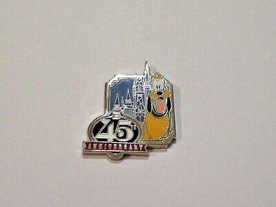 Disney Trading Pin Pluto Only Dog Magic Kingdom 45th Anniversary Castle