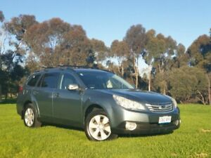 2010 Subaru Outback B5A MY10 2.5i Lineartronic AWD Green 6 Speed Constant Variable Wagon Medindie Walkerville Area Preview