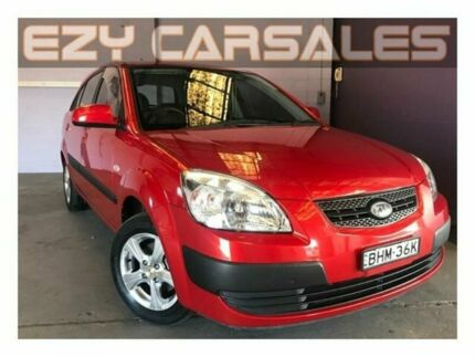 2008 Kia Rio JB LX Burgundy 5 Speed Manual Hatchback Albion Park Rail Shellharbour Area Preview
